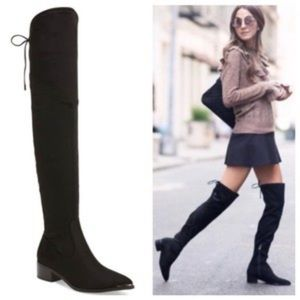 Marc Fisher Over-The-Knee Boots Chocolate Suede 9
